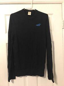 Hollister Navy Blue Long Sleeve Pullover Medium