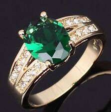 Nobby Jewelry Emerald Gold Filled Engagement Fashion Womens Rings Size 6,7,8,9