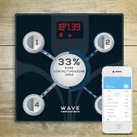 WAVE MEDICAL Advanced Bluetooth Smart Body Fat Bathroom Scale w/ Smartphone App