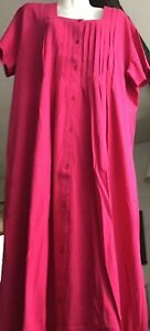 Vermont Country Store Woman's Rose short Sleeve Vintage Dress  Size 1XL
