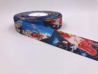 DIY 5 Yard 1'' 25mm Auto Story Printed Grosgrain Ribbon Hair Bow Sewing Ribbon