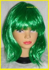 IRISH LASS Green BOB WIG Womens St Patrick Mardi Gras Carnival Costume Party