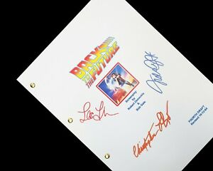Back To The Future Script Signatures Autographs Reprint Michael J Fox Lloyd