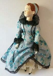 """RARE Vintage VICTORIAN DOLL 19"""" Molded Head/China Arms/Legs/Cloth Body A BEAUTY"""
