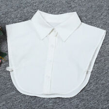 Men Women Career Business Fake Half Shirt Blouse Peter Pan Detachable Collar