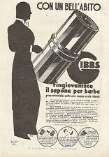 W0063 Gibbs il sapone per barba - Pubblicità 1933 - Advertising