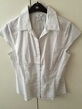 H&M Cotton Check Regular Size Tops & Shirts for Women