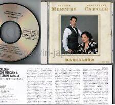 Freddie Mercury & Montserrat Caballé Barcelona JAPAN CD P32P-20193 INSERT FreeSH