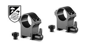 HAWKE 23102 Profi Stahl Ringmontagen Weaver Hoch 1 Zoll Höhe 49mm Schnellspann