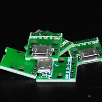 5pcs Micro USB to DIP 2.54mm Adapter Connector Module Female 5-Pin Pinboard PCB