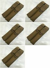 5 x New Airsoft Nylon Molle Double P90 UMP Magazine Utility Pouch Coyote Brown