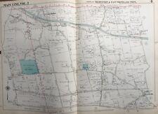 ORIG 1950 MAIN LINE, CHESTER CO. PA, TREDYFFRIN & EAST WHITELAND TWPs ATLAS MAP