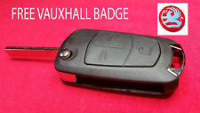 Funda Flip Vauxhall Astra H zafria B 3 botón llavero remoto + Gratis insignia de reparación