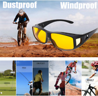 Motorcycle Biker Riding Protective Glasses Anti-wind Sport Goggles Yellow Lens