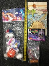 Warner Bros Space Jam Looney Tunes Bugs Bunny Plush Happy Meal Toy Mix Lot Used