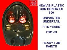 DUAL ROW -UNPAINTED (FLAT BLACK) PLASTIC HONDA CBR600 F4i 2001-03 UNDERTAIL ,NEW