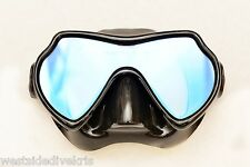 New listing Oceanways Superview TrueColor Anti Glare Scuba Dive Mask w/anti-fog (Om836Bksff)