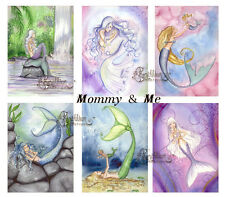 MOMMY & ME MERMAID NOTE CARDS from Original Watercolors by Camille Grimshaw