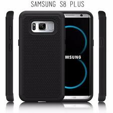 Samsung Galaxy S8 PLUS Rugged Rubber Impact Hybrid Shock Proof Case Etui - Black