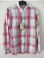 New Auth Burberry Men Shirt Nova Check Big Plaid Equestrian Pink XL M S $375