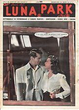 rivista fotoromanzo - LUNA PARK - Anno 1951 Numero 33 F. LEDERER E A. RUTHERFORD