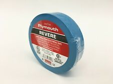 """Plymouth Rubber 3901 Revere Blue 7 Mil Vinyl Electrical Tape 3/4"""" x 60' - Spain"""