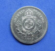 LB) Brazil Brasil -  100 Reis 1879 KM#477  NICE COIN