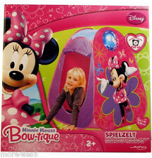 DISNEY Minnie Mouse Bow-tique Pop Up per Bambini Giocare Tenda INDOOR OUTDOOR NUOVO
