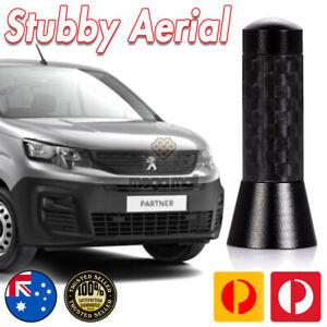 Antenna / Aerial Stubby Bee Sting for Peugeot Partner Black Carbon 3.5 CM