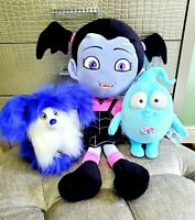 """Disney Store Vampirina Plush lot set JUMBO 26"""" Vampire Wolfie dog Hauntley Ghost"""