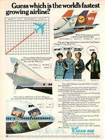 1977 Original Advertising' Vintage American Individual Iran Air Airlines