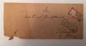Dt. Reich 1872 königl. Gerichtssache Dresden Schönfeld Siegel 17.8x8 cm 14496