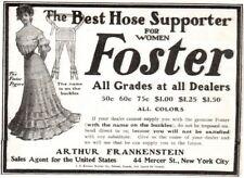 Vintage Ad Fashion Arthur Frankinstein Foster Best Hose supporter for Women