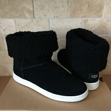 UGG MIKA CLASSIC SNEAKER ANKLE BOOTS SHOES BLACK SIZE US 9 WOMEN