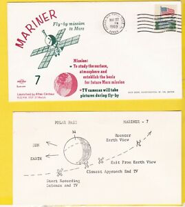 MARINER 7 FLY-BY MISSION TO MARS PATRICK AIR FORCE BASE FL MAR. 27 1969 SWANSON