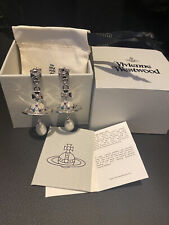 Vivienne Westwood Pearl Drop Earrings Silver Tone