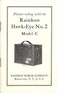 Original RAINBOW HAWKEYE No. 2 MODEL C INSTRUCTION MANUEL - Excellent Condition