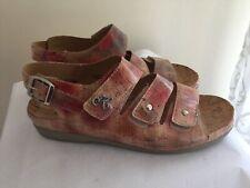 64420e0ea50 Helle Comfort Sz 39 8 Stylish Slingback Walker Open Toe Sandal Shoes