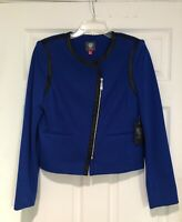 VINCE CAMUTO Women's Blazer Jacket Blue Lined Size 8 NWT