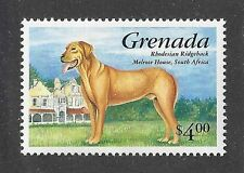 Dog Art Full Body Portrait Postage Stamp Rhodesian Ridgeback Grenada Mnh