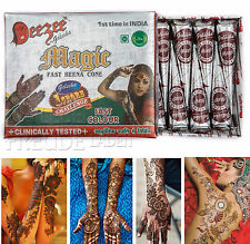 10x Golecha Deezee Mágico pasta de Henna/conos Caoba/marrón Á 25g Mehandi