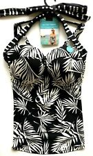Multiway Tankini Top 34E M&S Black Underwired Padded BNWT