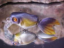 "Discontinued River2Sea 1 3/4"" Goldfish Lure GOLD' N Crank 40/GC04 Light Blue"