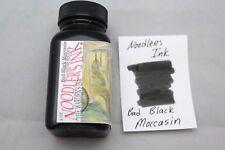 NOODLERS FOUNTAIN PEN INK 3 OZ BOTTLE BAD BLACK MOCCASIN
