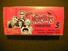 1964 THE MUNSTERS ORIGINAL CARD DISPLAY BOX  LEAF