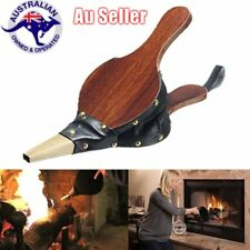 Vintage Wooden Manual Air Blower Fan Blower for Barbecue Fire Bellows 1M