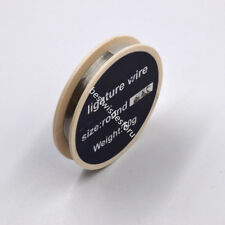 """Dental Stainless Steel Ligature Wire Surgical Spool Round 25mm /.010"""" 50g 1 Roll"""