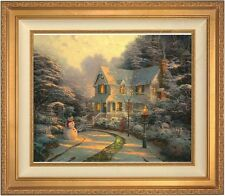 Thomas Kinkade Night Before Christmas 20 x 24 LE S/N Canvas (Gold Frame)