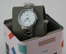 NEW AUTHENTIC FOSSIL NEELY SILVER CRYSTALS LADIES WOMEN'S ES4287 WATCH
