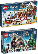 LEGO CREATOR COLLEZIONISTI NATALE 10245 SANTA'S WORKSHOP + 10249 WINTER TOY SHOP